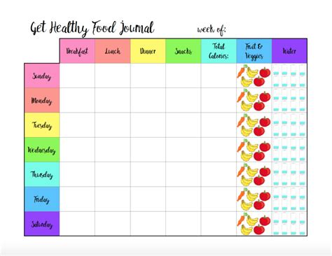 Related Galleries Blank Weekly Exercise Log Printable Menu Planner Template