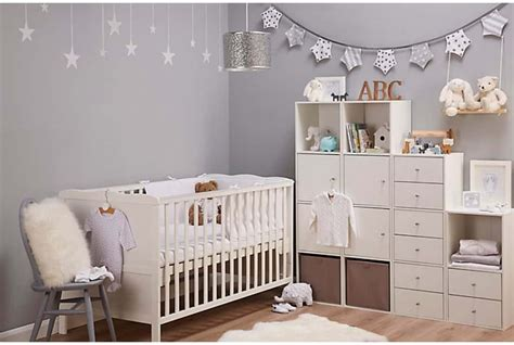 Baby Nursery Using Cube Cabinets With Drawers And Bins