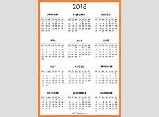 2018 Calendar Printable 2018 calendar with holidays