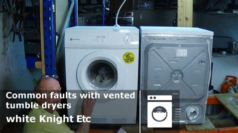 white common faults with vented tumble dryers how to diagnose problems and repair