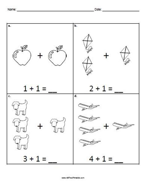 basic addition worksheets free printable