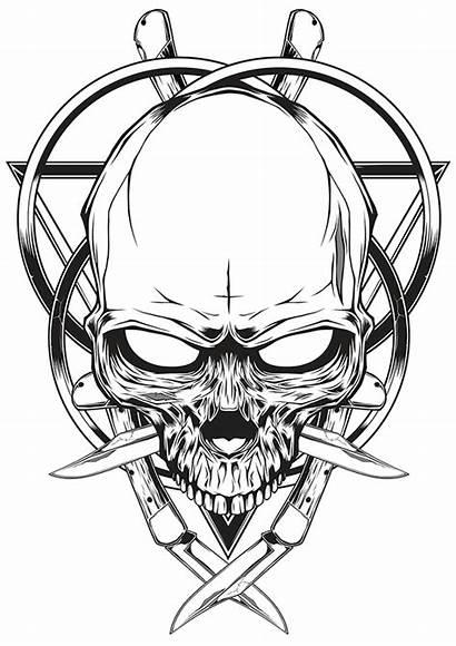 Knife Skull Skulls Drawing Drawings Illustration Tattoo