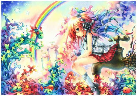 Rainbow Anime Wallpaper - anime rainbow wallpaper wallpapersafari