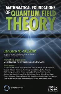Mathematical Foundations Of Quantum Field Theory  1  16  12