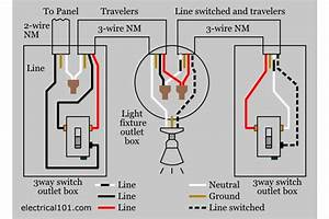 How To Wire A Three Way Switch  U2013 Diagram  Tutorial  U0026 Lighting  U2013 Electric Hut