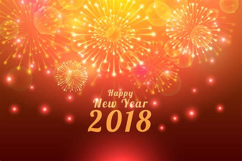 New Year 2018 With Bright Crackers Wallpaper Download