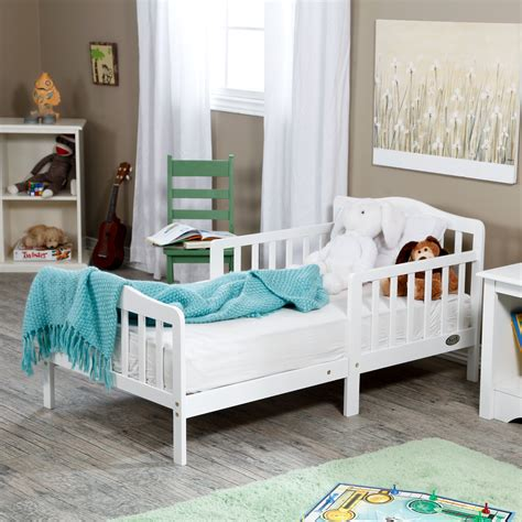 The Orbelle Contemporary Solid Wood Toddler Bed White
