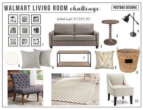 Living Room Ls Walmart by Walmart Living Room Budget Design Challenge Postbox Designs