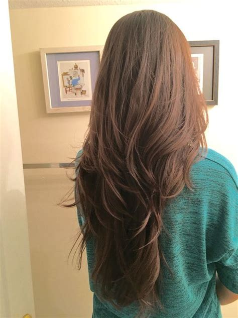 55 lovely long hair ladies layers soft featheredv