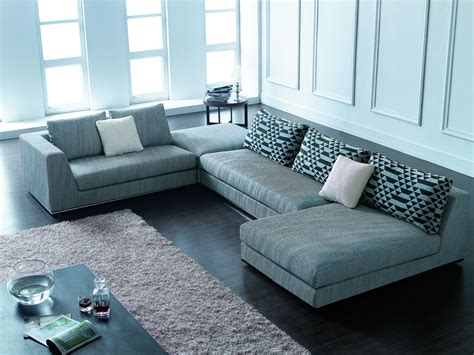Contemporary Couches And Sofas by Annabella Modern Sectional Sofa