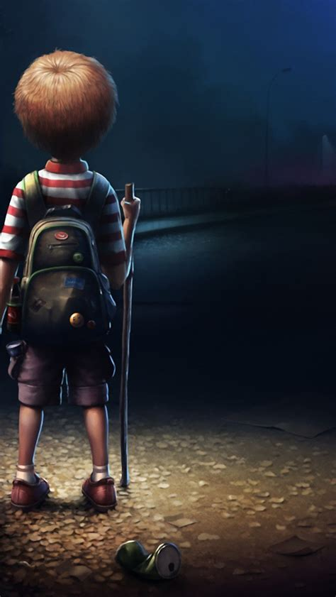 Animated Lonely Boy Wallpapers - 640x1136 boy with teddy iphone 5 wallpaper
