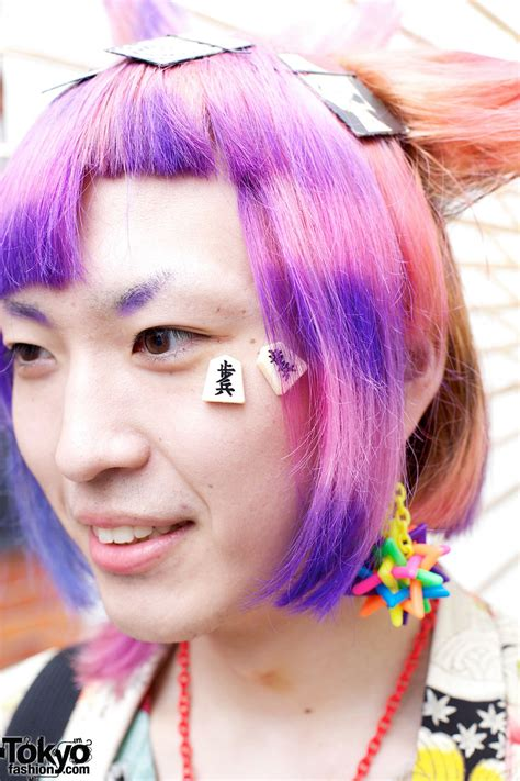 colorful hairstyles colorful s harajuku hairstyle tokyo fashion news