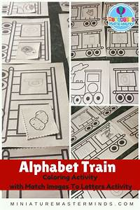 printable coloring pages preschool alphabet train activity With alphabet train letters