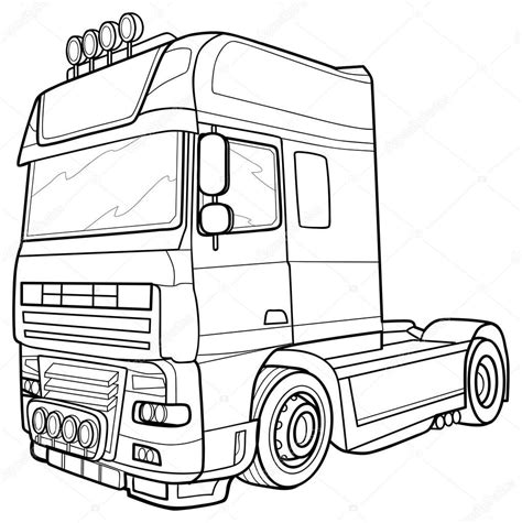 Kleurplaat Volvo Vrachtwagen by Vrachtwagen Tekening Scania Blanco Kleurplaat Vor