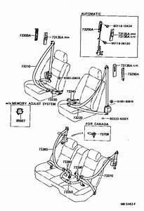 Lexus Ls 400 Belt Assembly  Rear Seat 3 Point Type  Outer