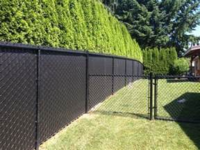 Black Chain Link Fence Privacy