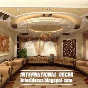 Contemporary gypsum ceilings suspended ceiling interior for Interior ceiling design for living room