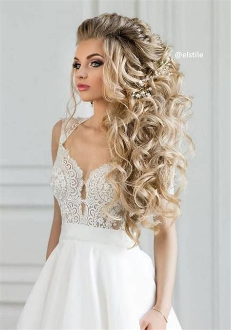 long bridesmaid hair bridal hairstyles  wedding