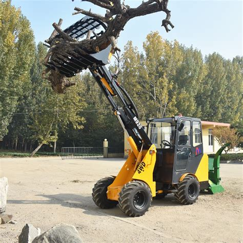ton telescopic wheel loader  forklift grapple attachment  sale buy small agriculture