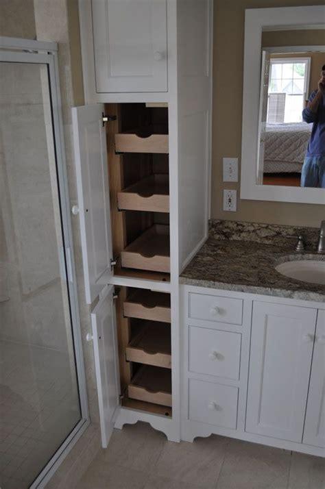 narrow bathroom cabinet ideas  pinterest