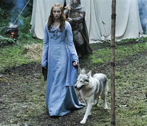 sansa stark adopts  direwolf  real cnet