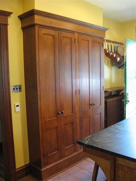 cool freestanding pantry  kitchen eclectic  narrow