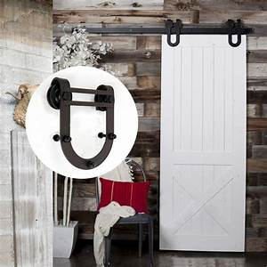 horse shoe spoke roller barn door kit lumina concepts With barn door assembly kit