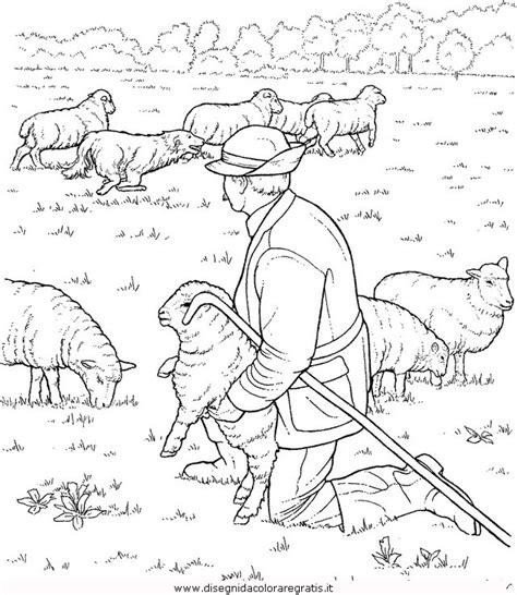 disegno pastore categoria persone da colorare