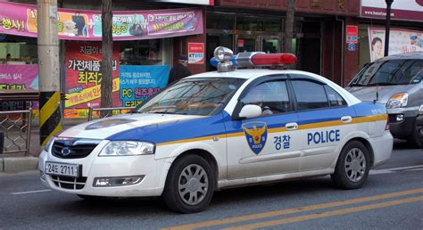 Police Car In Wonju,south Korea