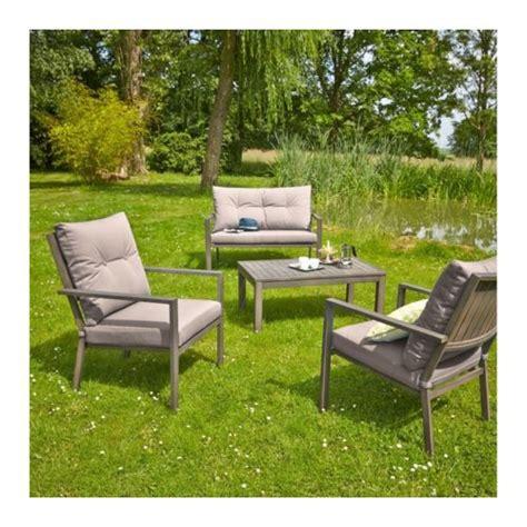 canap de jardin aluminium carrefour salon de jardin bas honfleur 1 table basse