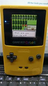 Backlit Gameboy Color  Custom Made To Your Request