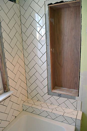 Installing Herringbone Tile Pattern  Lemon Grove Avenue