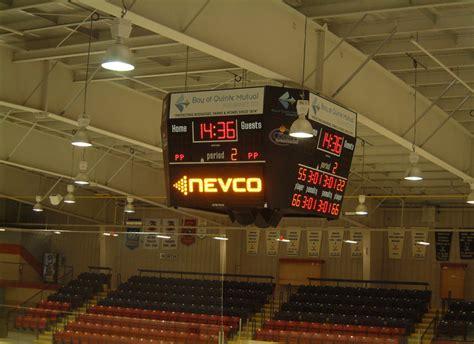 scoreboard man hockey scoreboards centre hung