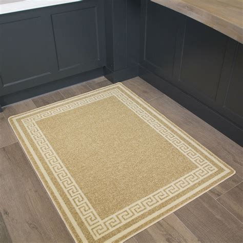 border beige machine washable traditional rug  slip