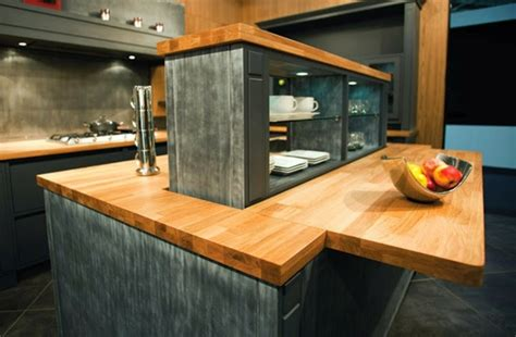 ilot cuisine bois massif ilot central cuisine bois massif mzaol com