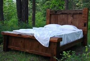 Custom Reclaimed Hand Hewn Bed - Rustic - Beds - other
