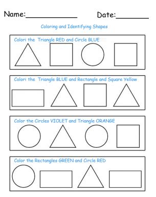 identify color identify and color shapes printable worksheets repin and