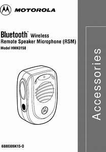 Motorola Solutions 99ft7001 Remote Speaker Microphone User