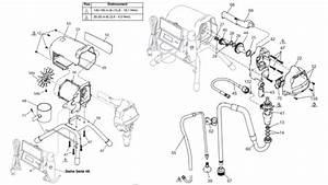 Graco St Max Ii 395 Pc Pro  U2013 Technical Drawing  U0026 Spare