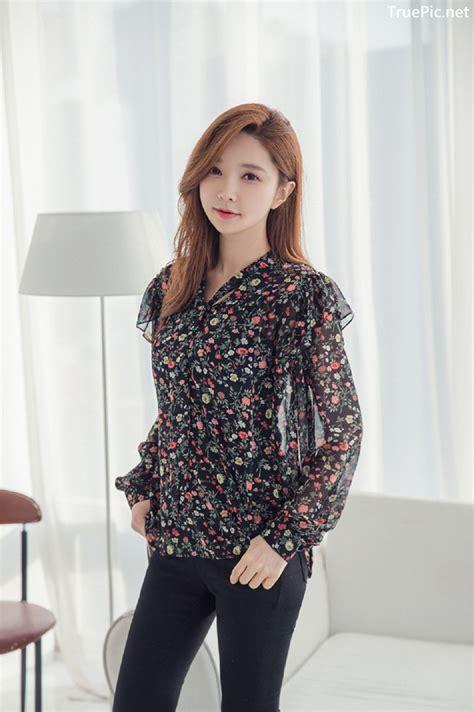 Korean Fashion Model Park Soo Yeon Indoor Photoshoot Collection