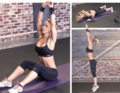 zuzka light workout cardio down slim sit minutes bodybuilding jump burpees push