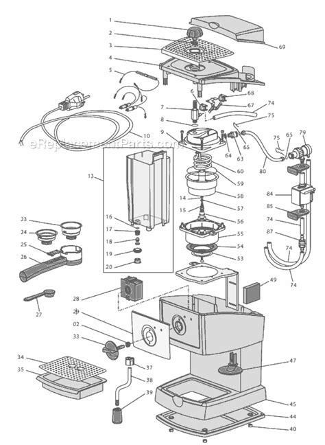 delonghi ec parts list  diagram ereplacementparts
