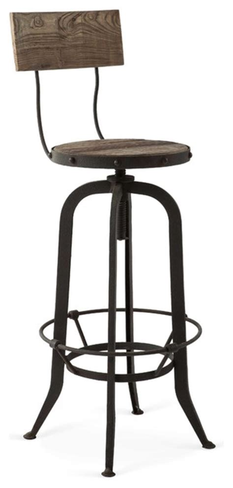 vintage bar stool alvar industrial loft reclaimed oak iron vintage barstool 3162