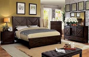 Transitional, Bedroom, Plank, Style, Hb, Fb, Queen, Bed, Unique, Dresser, Mirror, Nightstand, Dark, Walnut