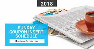2018, Sunday, Coupon, Insert, Schedule, Southern, Savers