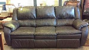 Chocolate colored leather sofa with reclining ends for Sectional sofa with reclining ends