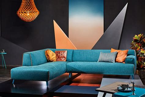 Orange Grey And Turquoise Living Room by Luxurious And Trendy Sofas With Irresistible Contemporary