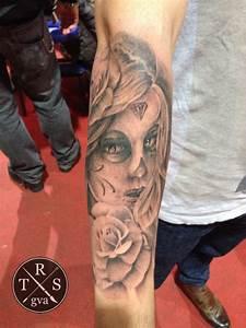 Tatouage Rose Avant Bras Couleur