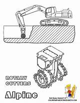 Coloring Pages Construction Rotary Mining Yescoloring Rock Hard Cutters Trucks Printable Drawings Collect Vehicles Rocks Cutter Hat Cat Dump sketch template