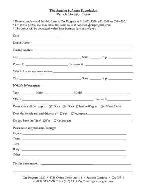 vehicle donation form fillable apache the apache software foundation